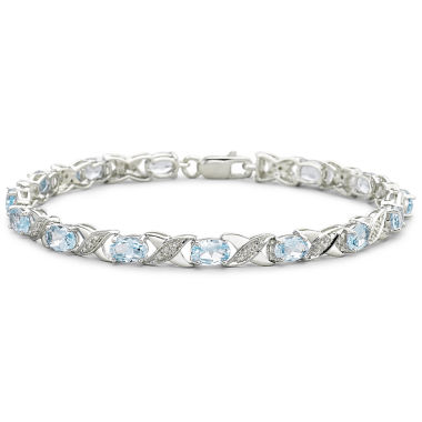 jcpenney.com | Genuine Blue Topaz and Diamond-Accent Bracelet