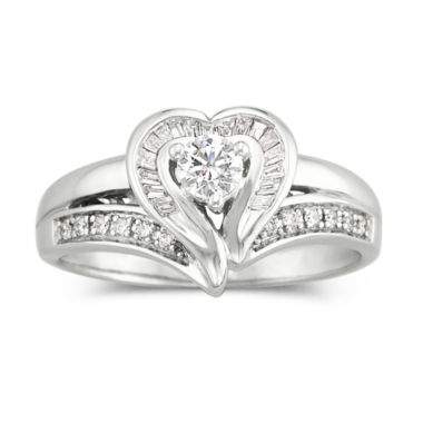 jcpenney.com | I Said Yes™ 3/8 CT. T.W. Certified Diamond Heart Bridal Ring