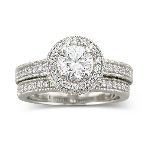 DiamonArt® Cubic Zirconia Bridal Set