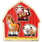Melissa & Doug® Farm Animals Jumbo Knob Puzzle