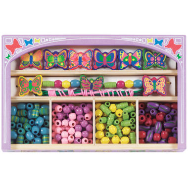 jcpenney.com | Melissa & Doug® Butterfly Wooden Bead Set