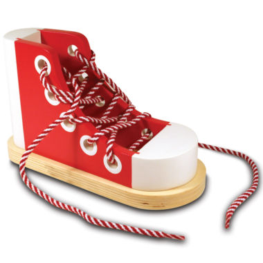 jcpenney.com | Melissa & Doug® Deluxe Wood Lacing Sneaker Toy