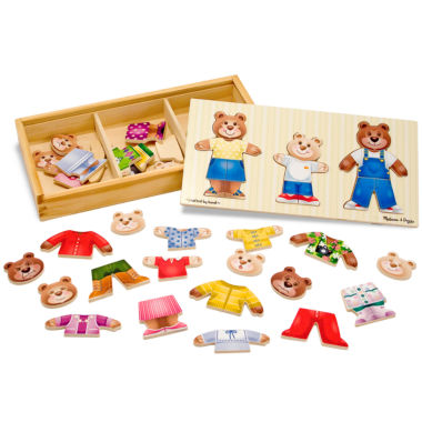 jcpenney.com | Melissa & Doug® Wooden Bear Family Dress-Up Puzzle