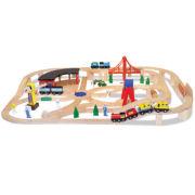 Melissa & Doug® Classic Wooden Railway Set