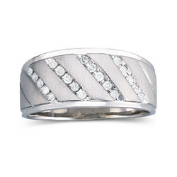 1/4 CT. T.W. Mens Diamond Band Sterling Silver