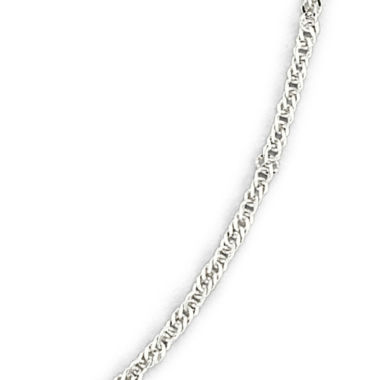 "jcpenney.com | 14K White Gold 20-24"" Singapore Chain Necklace"