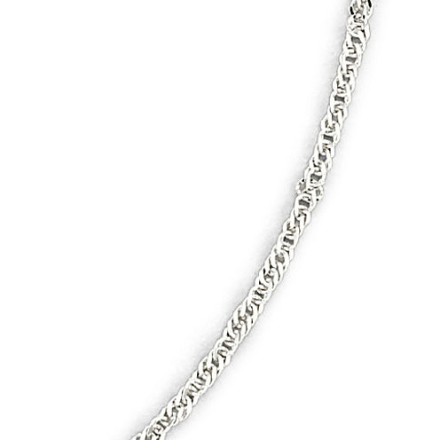 "Made in Italy 14K White Gold 20-24"" Singapore Chain Necklace"