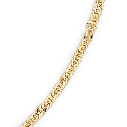 "Made in Italy 14K Gold 1.65mm 16-24"" Singapore Chain"