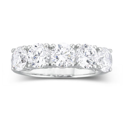 DiamonArt 2 12 CT TW Cubic Zirconia Wedding Ring JCPenney