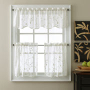 Eliminaire® Naples Rod-Pocket Sheer Scalloped Valance