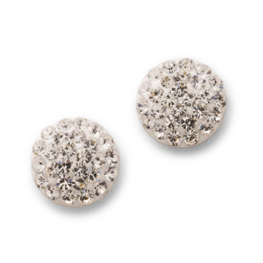 jcpenney.com | Stud Earrings, Sterling Silver Crystal Ball