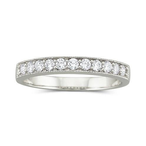 DiamonArt® Cubic Zirconia Wedding Ring