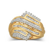 1/2 CT. T.W. Diamond Ring In 14K Gold Over Sterling Silver