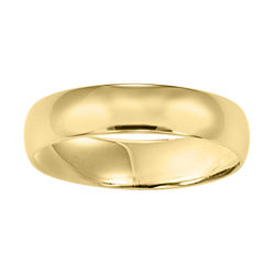BEST VALUE! Men's 6mm Wedding Band in 10K Gold