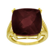 Cushion Cut Garnet Tiger Eye Ring