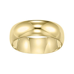 BEST VALUE! Gold Wedding Band, Womens 6mm 10K