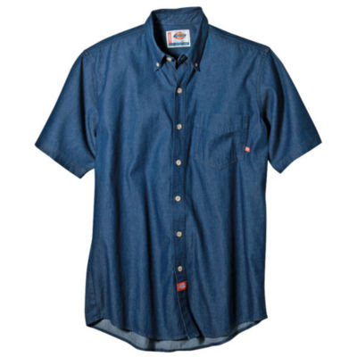 Dickies® Short Sleeve Denim Work Shirt–Big & Tall by Dickies