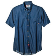Dickies® Short-Sleeve Denim Work Shirt–Big & Tall