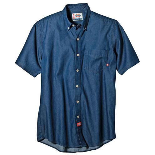 Dickies® Short-Sleeve Denim Work Shirt–Big & Tall