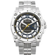 Bulova Mens Silver-Tone Stainless Steel Watch