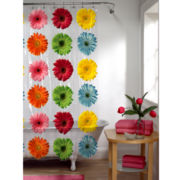 Maytex Gerber Daisy Vinyl Shower Curtain