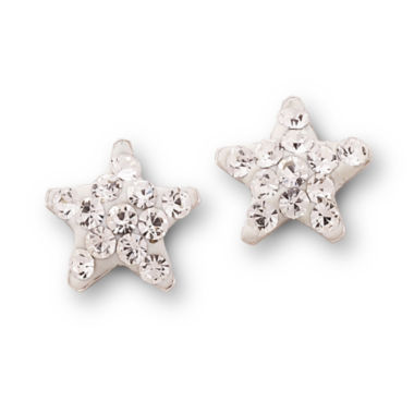 jcpenney.com | Crystal Star Stud Earrings Sterling Silver