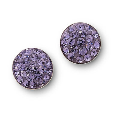 jcpenney.com | Purple Crystal Button Stud Earrings