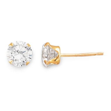 jcpenney.com | 5mm 14K Gold Cubic Zirconia Round Stud Earring
