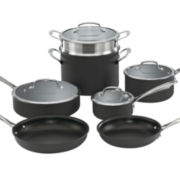 Cuisinart® 11-pc. Dishwasher-Safe Hard-Anodized Cookware Set + BONUS