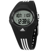 adidas® Black & White Digital Chronograph Watch