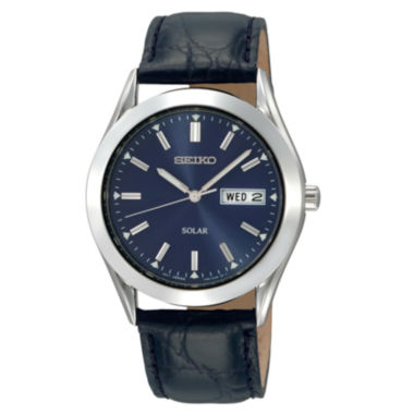 jcpenney.com | Seiko® Mens Blue Dial Solar Watch SNE049