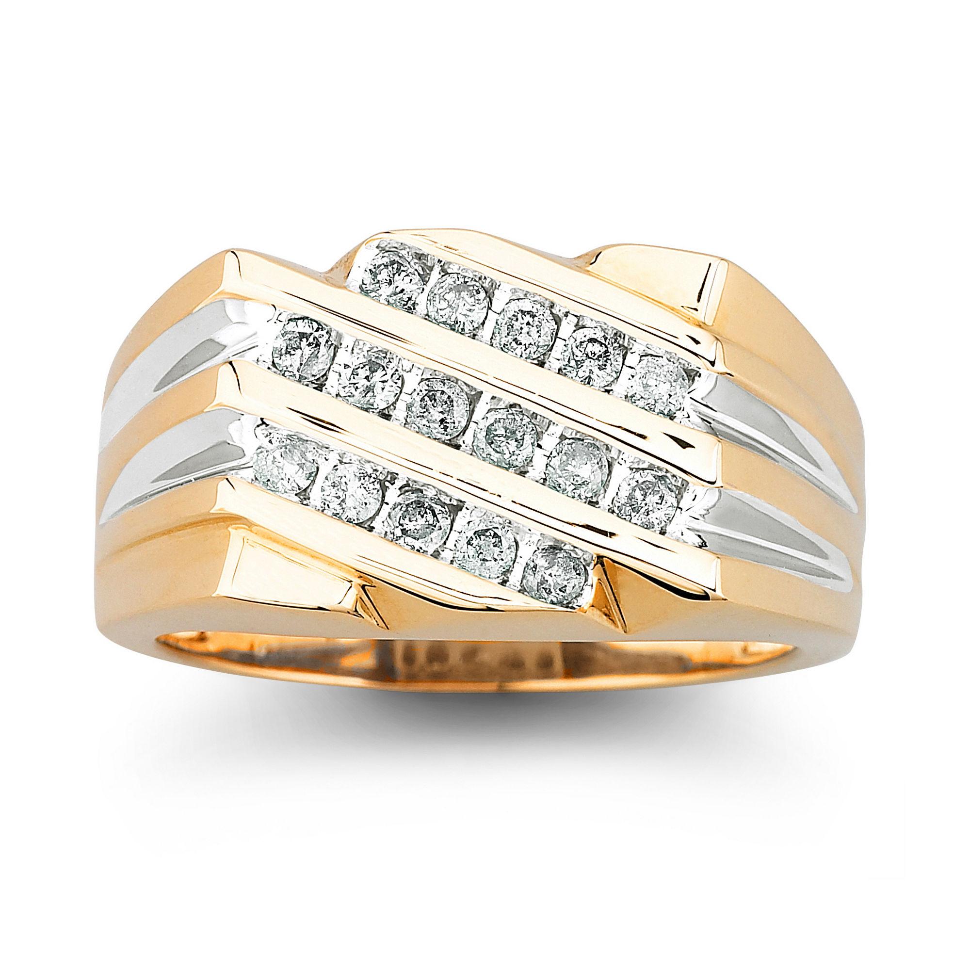 1/2 CT. T.W. Diamond Mens Ring 10K Gold
