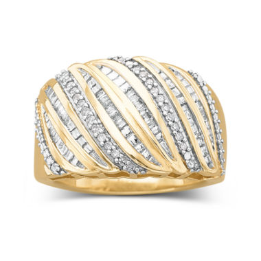 jcpenney.com | 1/4 CT. T.W. 14K Gold Over Silver Diamond Ring