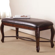 Tatum Leather Padded Bench