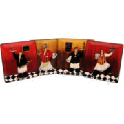 Bistro Chef Set of 4 Dessert Plates