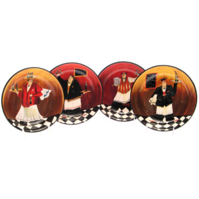 Certified International Bistro Chef Set of 4 Soup Bowls