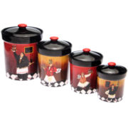 Dinnerware, Bistro Chef Canisters - set of 4