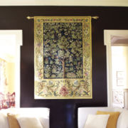 Garden of Delight Wall Tapestry with Rod