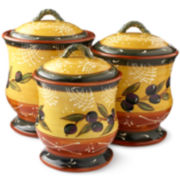 Certified International French Olive Canister Set