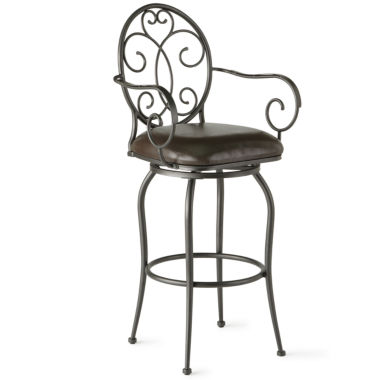 jcpenney.com | Bethany Swivel Barstool with Back