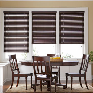 "jcpenney.com | JCPenney Home™ 1"" Basswood Horizontal Blinds"