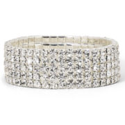 Vieste Bracelet, Crystal 5 Row Stretch