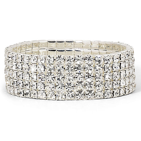 Vieste® Crystal 5-Row Stretch Bracelet