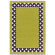 Tween Dottie Border Washable Rectangular Rug