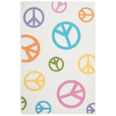 jcpenney.com | Tween Pearl Peace Field Rectangular Rug