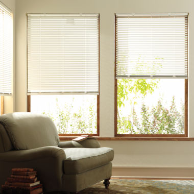 "jcpenney.com | JCPenney Home™ Custom 1"" Aluminum One Touch Horizontal Blinds"