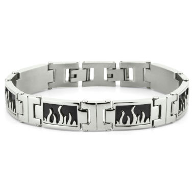 jcpenney.com | Men's Flame Bracelet Stainless Steel