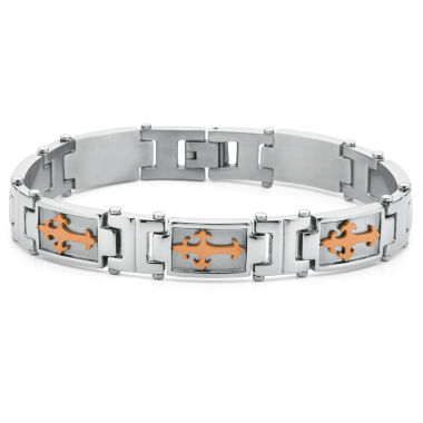 jcpenney.com | Men's Cross Bracelet Stainless Steel