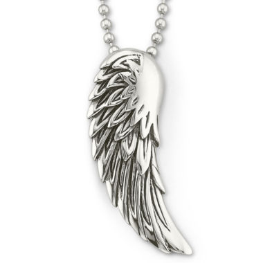 jcpenney.com | Mens Winged Pendant Necklace Stainless Steel