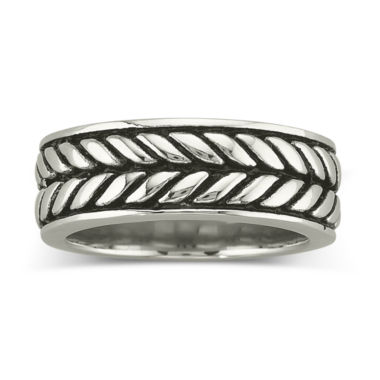 jcpenney.com | Men's Woven Band Stainless Steel